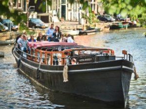 Grachtenfahrt Amsterdam Grossgruppe Abendessen Drinks