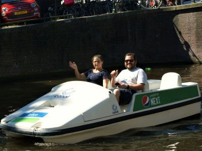 Waterfietsen fluisterboot huren bij Boaty Boats4rent met kayak of SUP door Amsterdam gevonden met de Rondvaartvergelijker