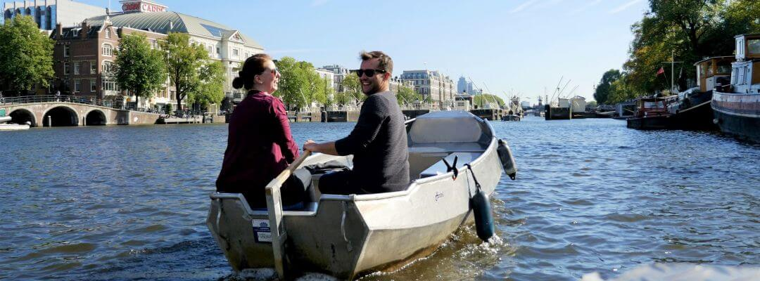 Sloep huren Amsterdam zelf grachten varen Boaty Boats4rent