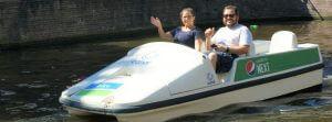 Waterfietsen fluisterboot huren kayak SUP grachten Amsterdam