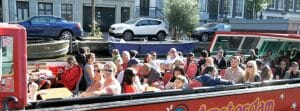 hop on hop off rondvaart Amsterdamse grachten